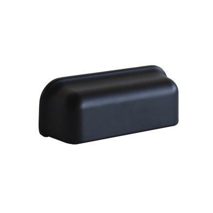 Komgreep 96 mm mat zwart