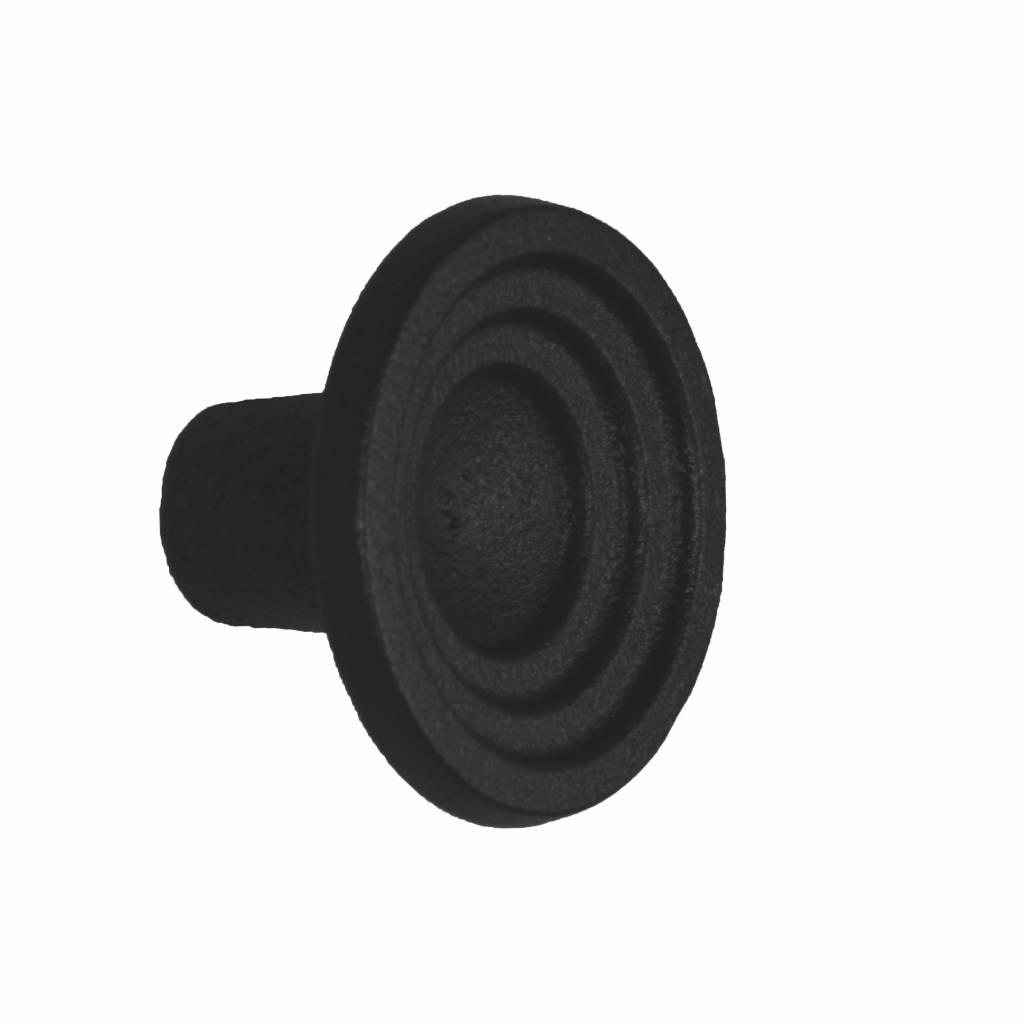 deurknop 46 mm mat zwart