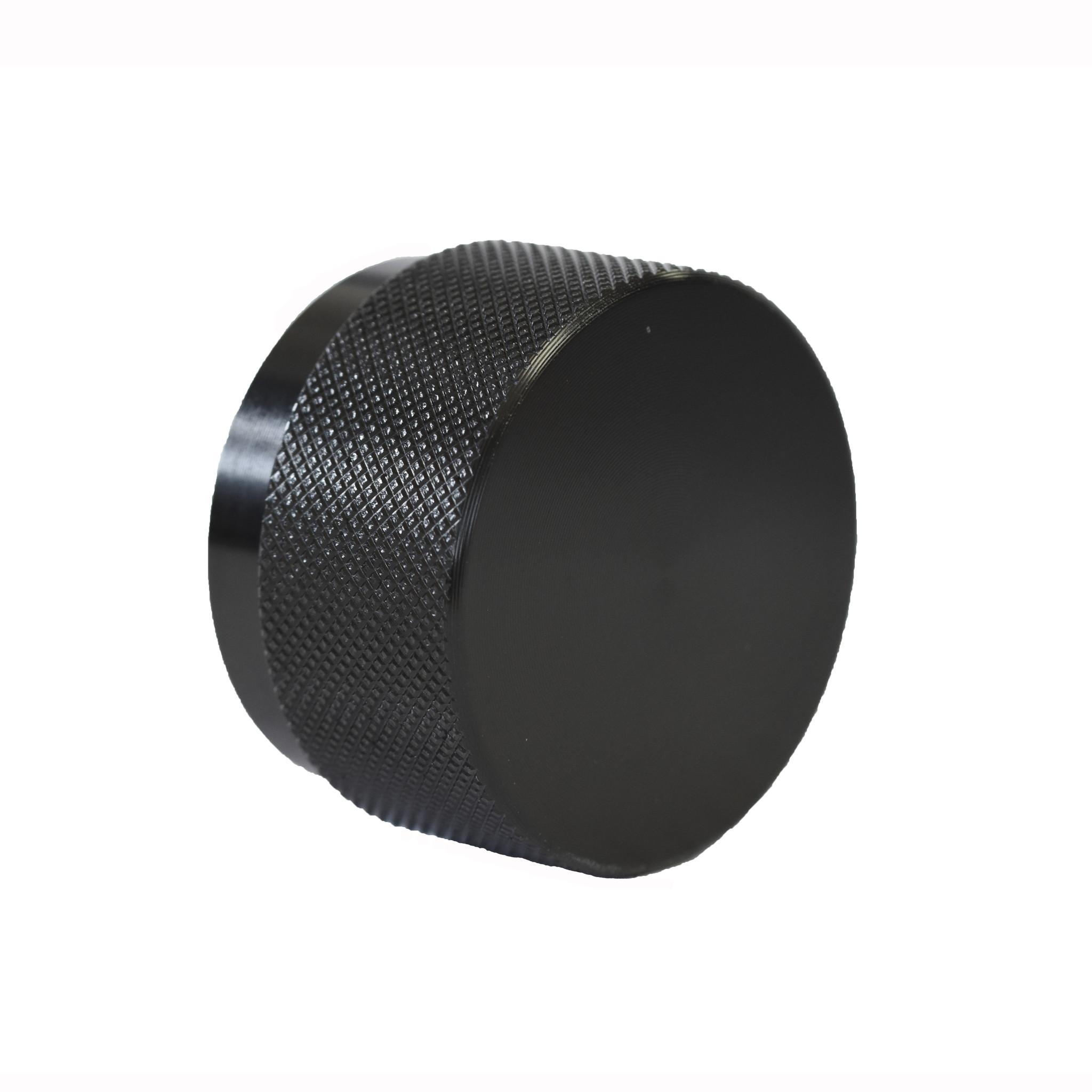 hifi knop 38 mm mat zwart