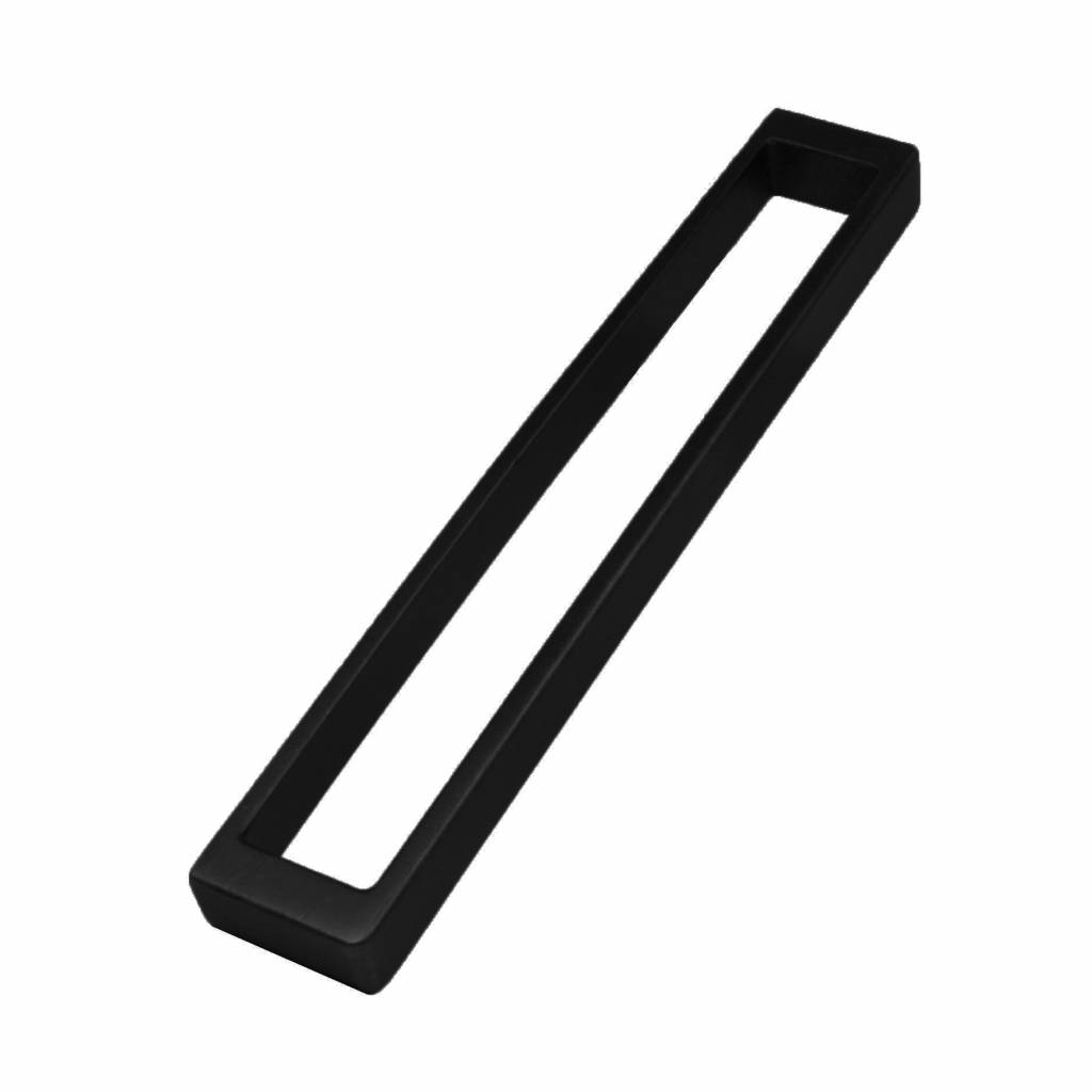 greep 192 mm mat zwart